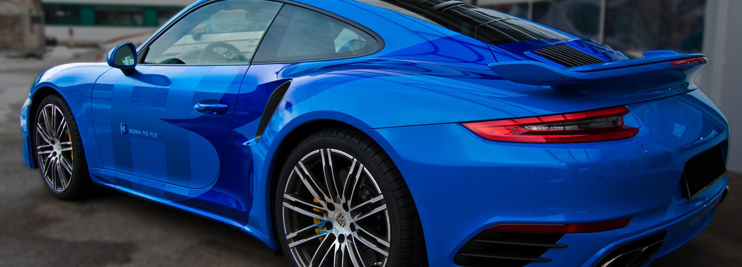 Porsche Beschriftung